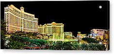 In The Heart Of Vegas Acrylic Print by Az Jackson