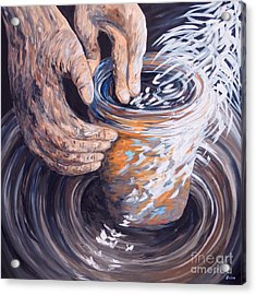 In The Potter's Hands Acrylic Print by Eloise Schneider