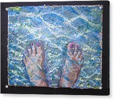 In The Water Acrylic Print by Tilly Strauss