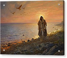In The World Not Of The World Acrylic Print by Greg Olsen