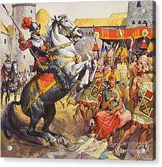 Incas Acrylic Print by James Edwin McConnell