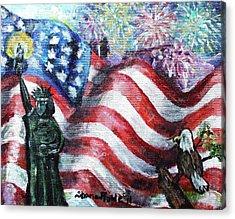 Independence Day Acrylic Print by Shana Rowe Jackson