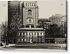 Independence Hall Acrylic Print by Bill Cannon