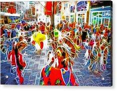 Indian Ceremonial Dance - 2002 Winter Olympics Acrylic Print by Steve Ohlsen