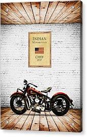 Indian Chief 1937 Acrylic Print by Mark Rogan