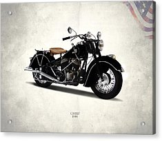 Indian Chief 1946 Acrylic Print by Mark Rogan