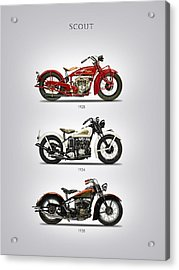Indian Scout Trio Acrylic Print by Mark Rogan