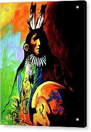 Indian Shadows Acrylic Print by Lance Headlee