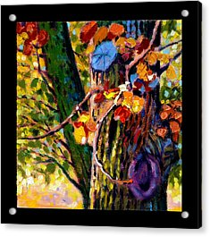 Indian Summer Detail Eight Acrylic Print by John Lautermilch