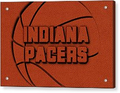 Indiana Pacers Leather Art Acrylic Print by Joe Hamilton