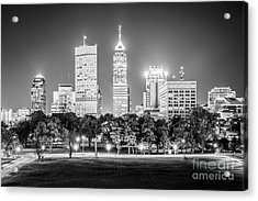 Indianapolis Skyline Black And White Picture Acrylic Print by Paul Velgos