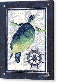 Indigo Maritime 1 Acrylic Print by Debbie DeWitt