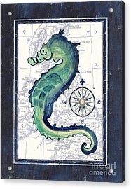 Indigo Maritime 2 Acrylic Print by Debbie DeWitt
