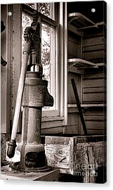 Indoor Plumbing Acrylic Print by Olivier Le Queinec