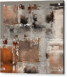 Industrial Abstract - 01t02 Acrylic Print by Variance Collections