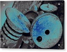 Industrial Blues Acrylic Print by Marnie Patchett