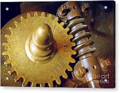 Industrial Gear Acrylic Print by Carlos Caetano