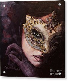 Ingredient Of Mystery  Acrylic Print by Dorina  Costras