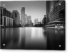 Inside Canary Wharf Acrylic Print by Ivo Kerssemakers