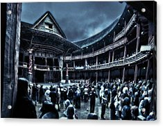 Inside Shakespeare's Globe Acrylic Print by Rich Beer