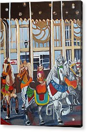 Inside The Carousel House Acrylic Print by Norma Tolliver