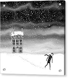 Inside The Snow Globe  Acrylic Print by Andrew Hitchen
