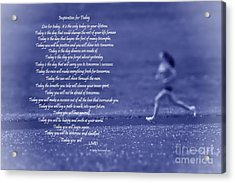 Inspiration For Today Runner  Acrylic Print by Cathy  Beharriell