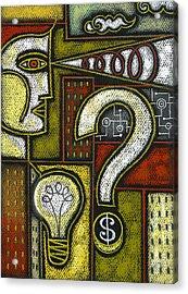 Intelligence Acrylic Print by Leon Zernitsky
