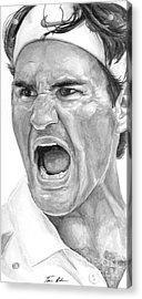 Intensity Federer Acrylic Print by Tamir Barkan