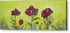 Intensity Of The Poppy I Acrylic Print by Shadia Zayed