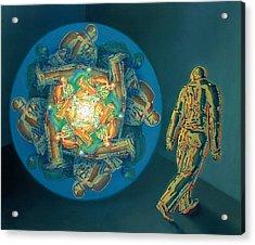 Introspection Acrylic Print by De Es Schwertberger