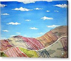 Iowa Fields  Iowa Clouds Acrylic Print by Jame Hayes