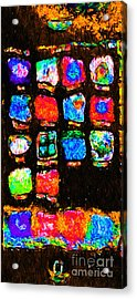 Iphone In Abstract Acrylic Print by Wingsdomain Art and Photography