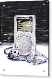 iPod Acrylic Print by Russell Pierce