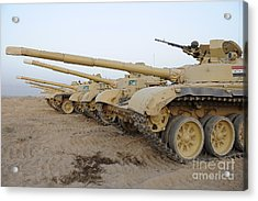 Iraqi T-72 Tanks From Iraqi Army Acrylic Print by Stocktrek Images