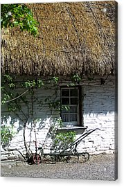 Irish Farm Cottage Window County Cork Ireland Acrylic Print by Teresa Mucha