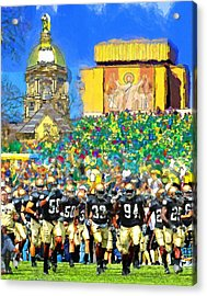 Irish Run To Victory Acrylic Print by John Farr