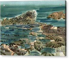 Irish Sea Acrylic Print by Donald Maier