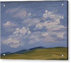 Irish Sky Acrylic Print by John Farley