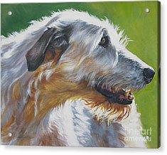 Irish Wolfhound Beauty Acrylic Print by L A Shepard