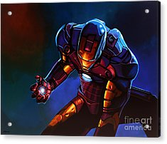Iron Man Acrylic Print by Paul Meijering