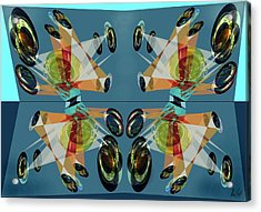 Irregular Mirrored Watches Acrylic Print by Helmut Rottler