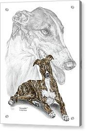 Irresistible - Greyhound Dog Print Color Tinted Acrylic Print by Kelli Swan