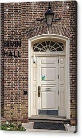 Irvin Hall Penn State  Acrylic Print by John McGraw