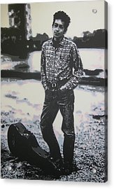 Is There No One Here That Knows Where Im At Acrylic Print by Luis Ludzska