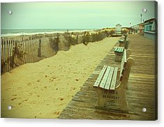Is This A Beach Day - Jersey Shore Acrylic Print by Angie Tirado