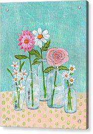 Isabella Rose Flowers Acrylic Print by Blenda Studio