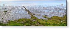 Island Sylt - Mudflat Acrylic Print by Marc Huebner
