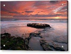 Isle Of The Setting Sun Acrylic Print by Mike  Dawson