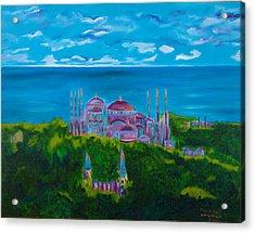 Istanbul Skyline Acrylic Print by Dani Altieri Marinucci